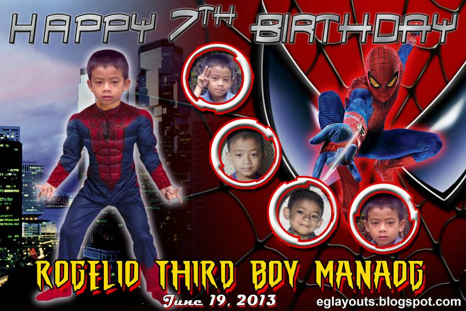 EGu0026#39;s LayOut World: Third Boy in Spiderman Tarpaulin Layout