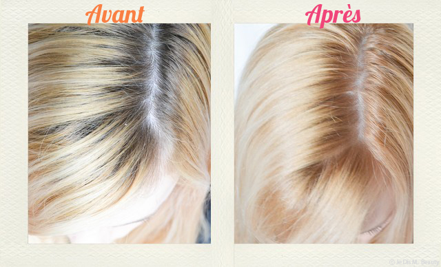 chose promise chose due voil le comparatif racines - Coloration Blond Cendr Sur Roux