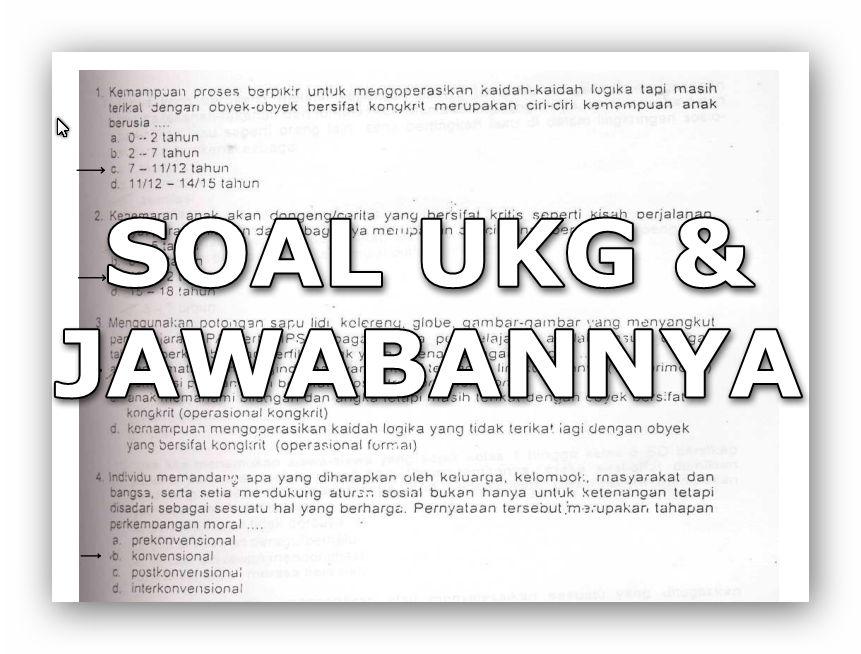 Download Kumpulan Soal Soal Latihan Ukg Lengkap Dengan Kunci Jawabannya Bahasan Ilmu Pendidikan