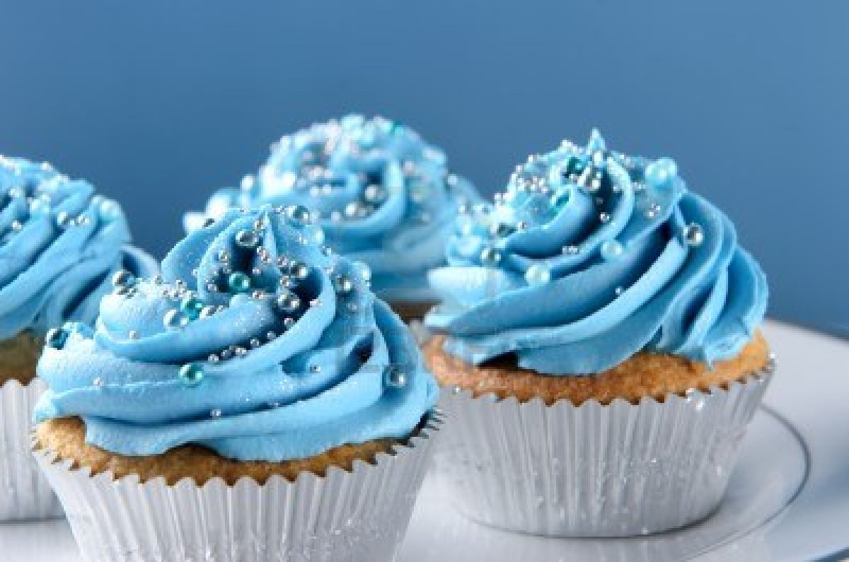 Cupcake Decorating Ideas Blue : Cup Cakes Online Shop