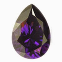 Pear Amethyst Color CZ Stones