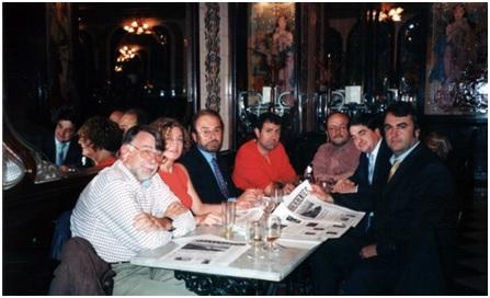 Con Rafael Domínguez, Carmen Matutes, Antonio López del Moral, Francisco Legaz,