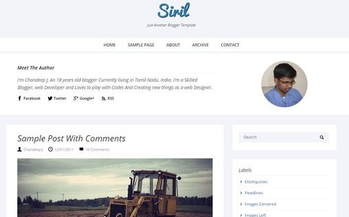 Siril Responsive Template