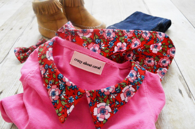 pointy collar pattern t-shirt refashion