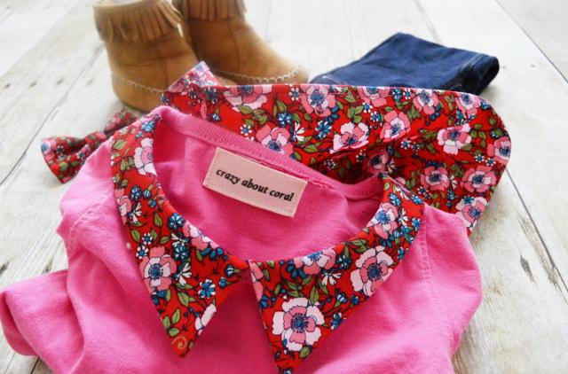pointy collar pattern t-shirt refashion