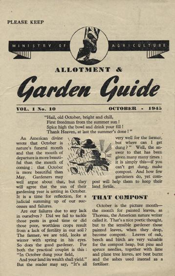 Wartime garden what to do in october 1945 pt1 life on pig row - Gardening in october a brief to do list ...