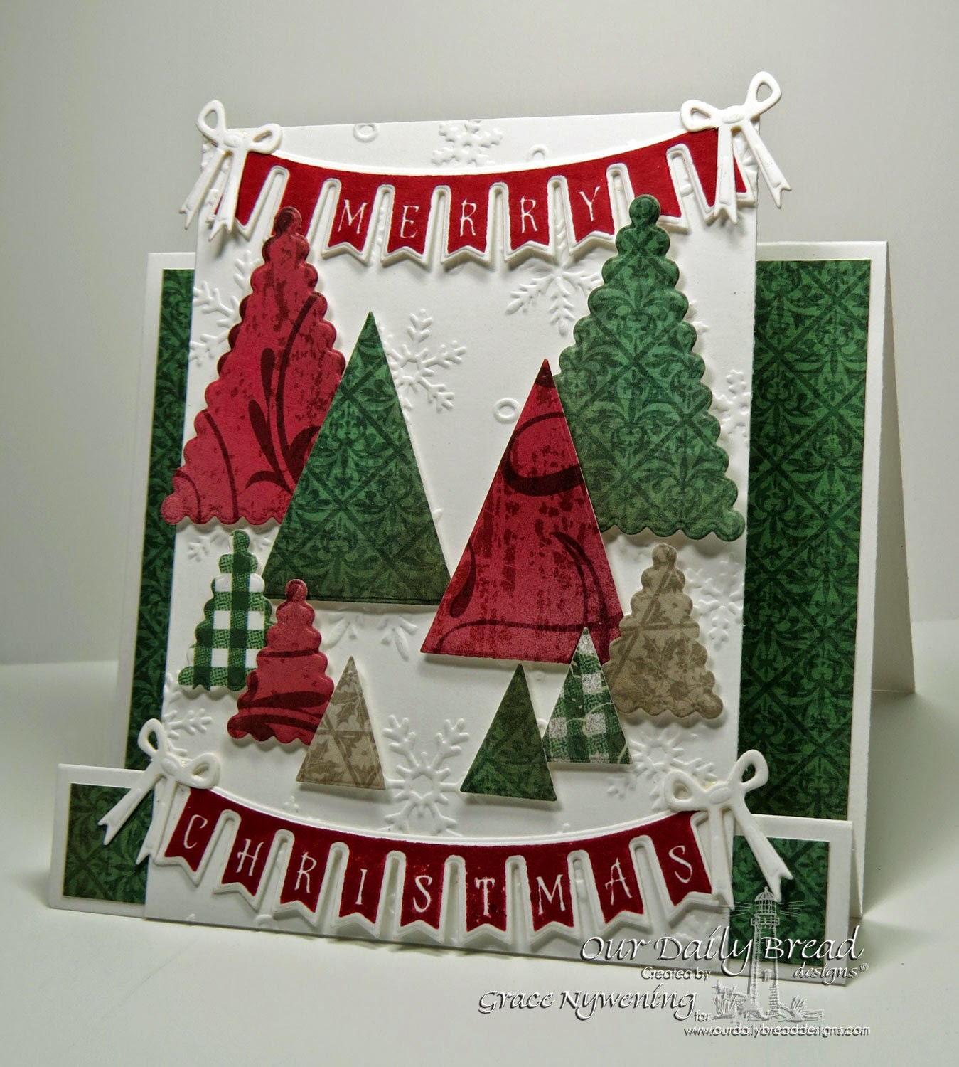 ODBD stamps: Christmas Pennant Swag, designed by Grace Nywening