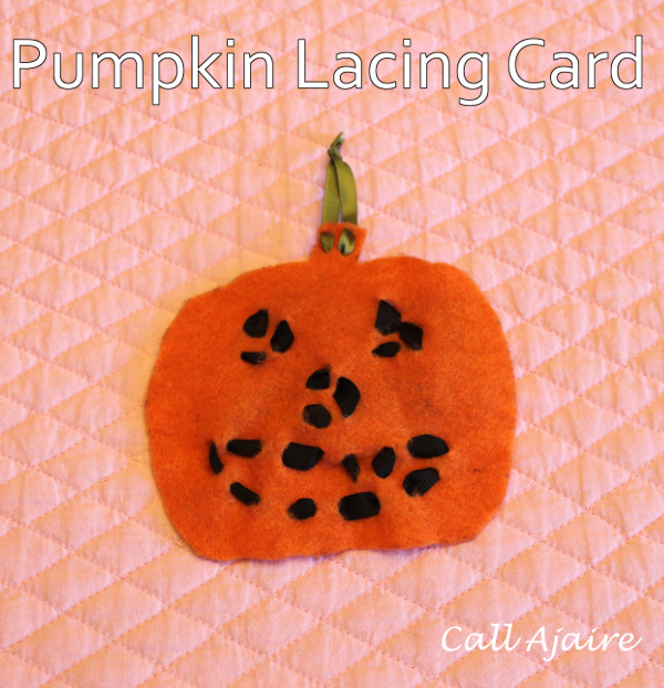 Pumpkin Lacing Card from Call Ajaire