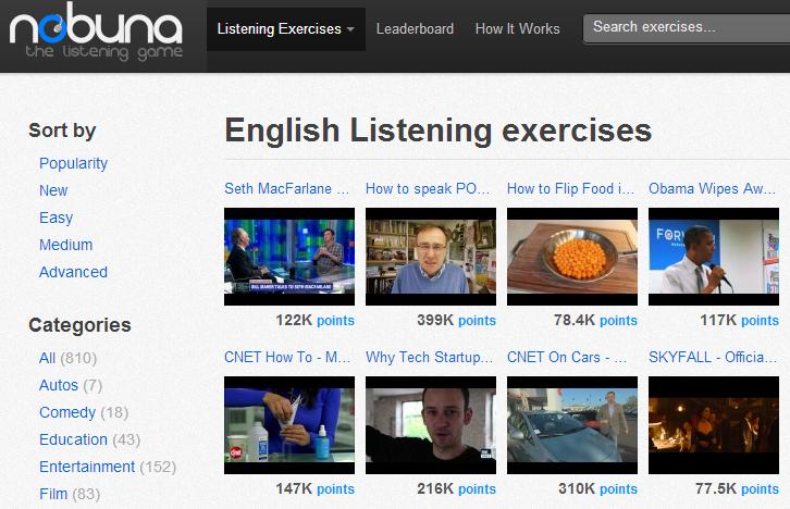 Luyện nghe tiếng Anh qua video