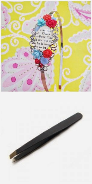 image tweezers slant tip two cheeky monkeys mr darcy headband cabochons red turquoise pride and prejudice