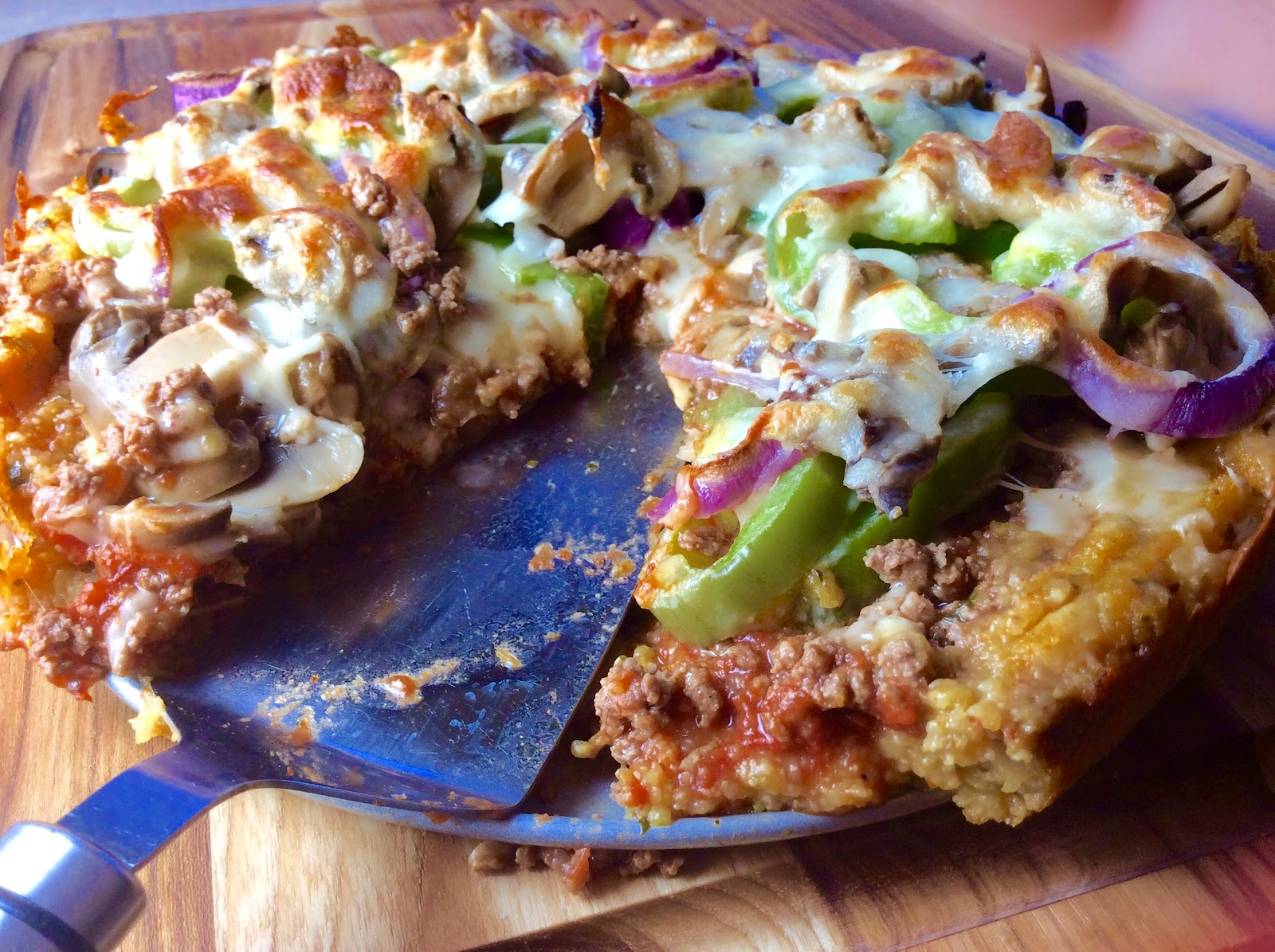 Food Fitness by Paige: Deep Dish Tuscan Supreme Polenta Pizza
