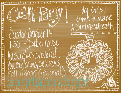 Burlap and Recycled Paper Party Invitations