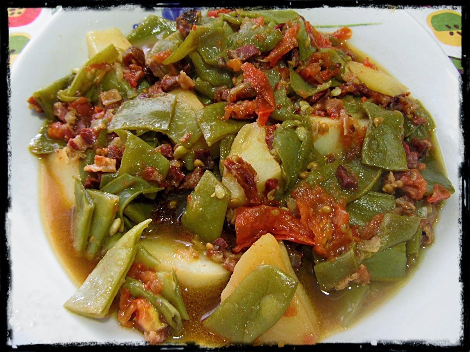 Jud as verdes con patatas y tomate en olla r pida - Judias verdes en olla express ...