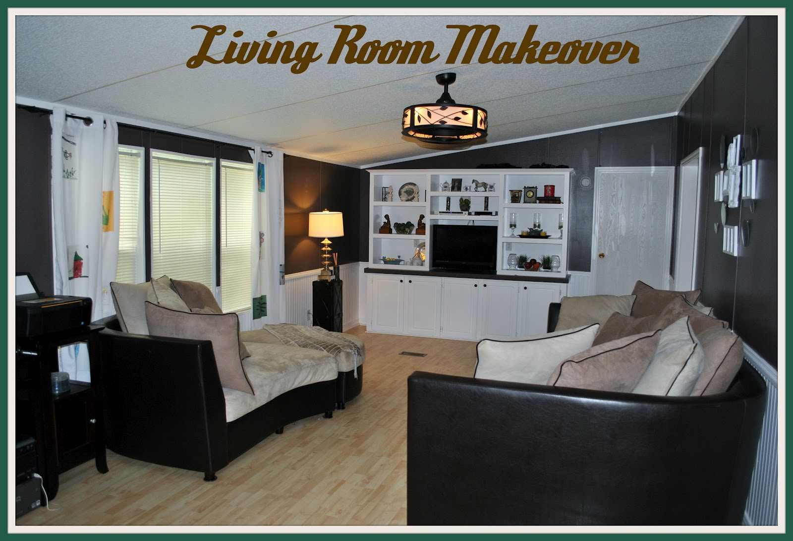 Life with 4 boys living room makeover before and after for Room makeover