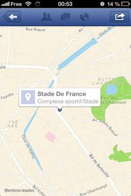 Le Stade de France vu par Apple Plans