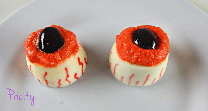olhos caseiros para Halloween