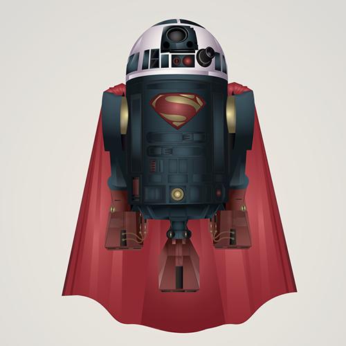 05-Superman-Steve-Berrington-Batman-v-Superman-and-their-Superhero-R2-D2-Friends-www-designstack-co