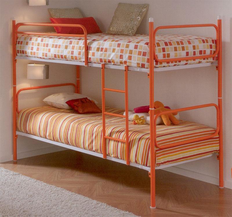 Muebles de forja camas litera en forja - Cama convertible en litera ...