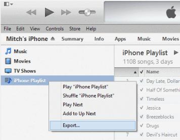 Export iPhone Playlist Ke Komputer