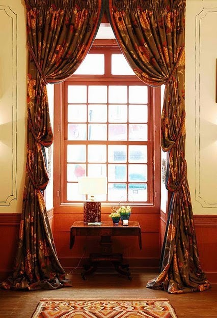 luxurious hight curtain for hight window