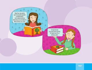 Llegaron los libros español lectura primer grado pagina 157