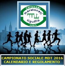 Campionato Sociale 2016 - Calendario e Regolamento