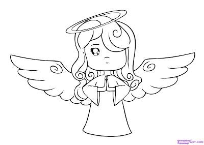 How to Draw a Easy Cartoon Angel