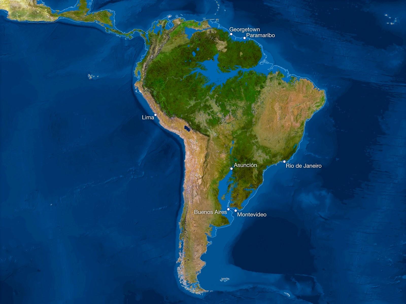 ¿Cómo sería la Tierra si todo el hielo se derritiera? Sudamerica-sin-hielo