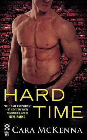 Cover Description, Hard Time by Cara McKenna: It just a close up of a man's chest. the title is in yellow.