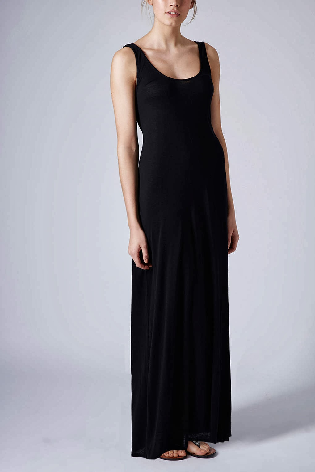 topshop black maxi dress