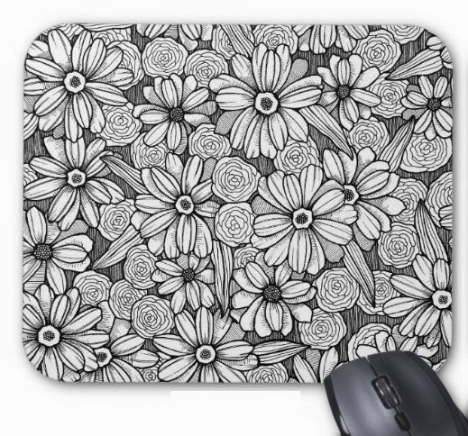 http://www.zazzle.com/black_white_zinnia_floral_mousepad-144564679922457173?rf=238299512841520505