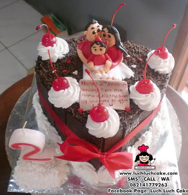 Kue Tart Love Blackforest Anniversary (REPEAT ORDER)