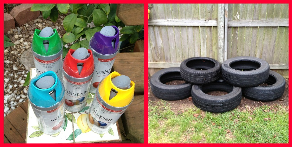 Lemon bean and things recycle tire planter under - Painted tires for flowers ...