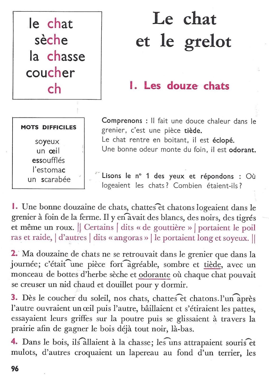 Célèbre école : références: Le chat et le grelot (lecture courante CP-CE1) BU03