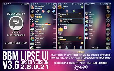 Download BBM Mod Android LIPSE UI v3.6 Version 2.8.0.21 Apk
