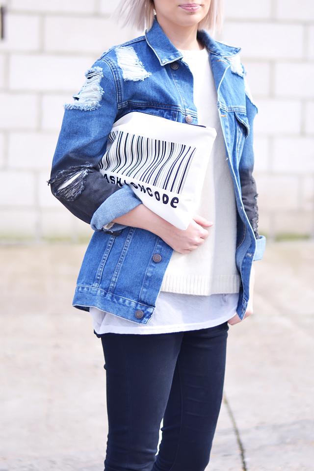 Asos denim jacket, jeans jacket, wool jumper, ridley jeans, blogger, street style