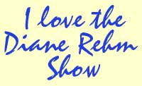Blue handwritten looking type that says I love the Diane Rehm Show