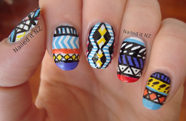 crazy nail art design