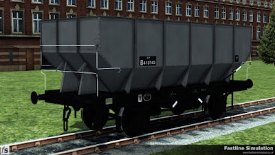 Fastline Simulation: A virtually ex-works dia. 1/143 21T hopper painted in unfitted grey livery with the most simple 21T lettering on a black painted panel.