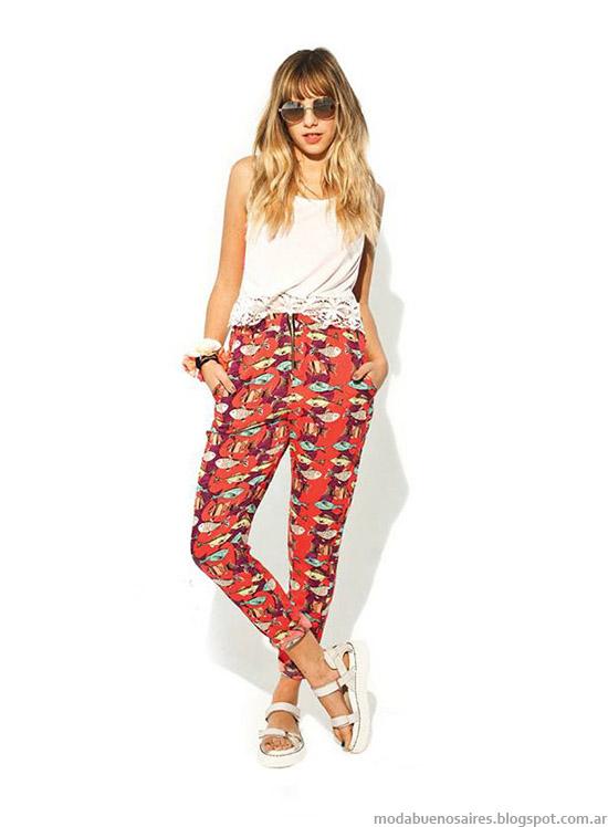 47 Street verano 2015. Moda remeras, tops, blusas 2015.