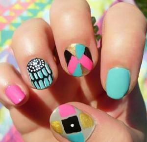 nail art Cores para o Verão