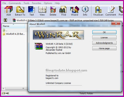 Crack New Free Winrar 4.20 Beta 3 full