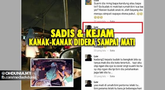 Budak 4 tahun di dera hingga mati dengan tragis di Klang