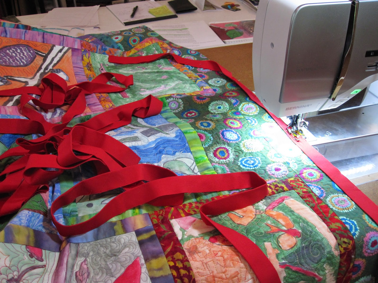 Cheeky Cognoscenti: Wrapping Up Loose Edges: Binding the 5th Grade ... : binding quilt edges - Adamdwight.com
