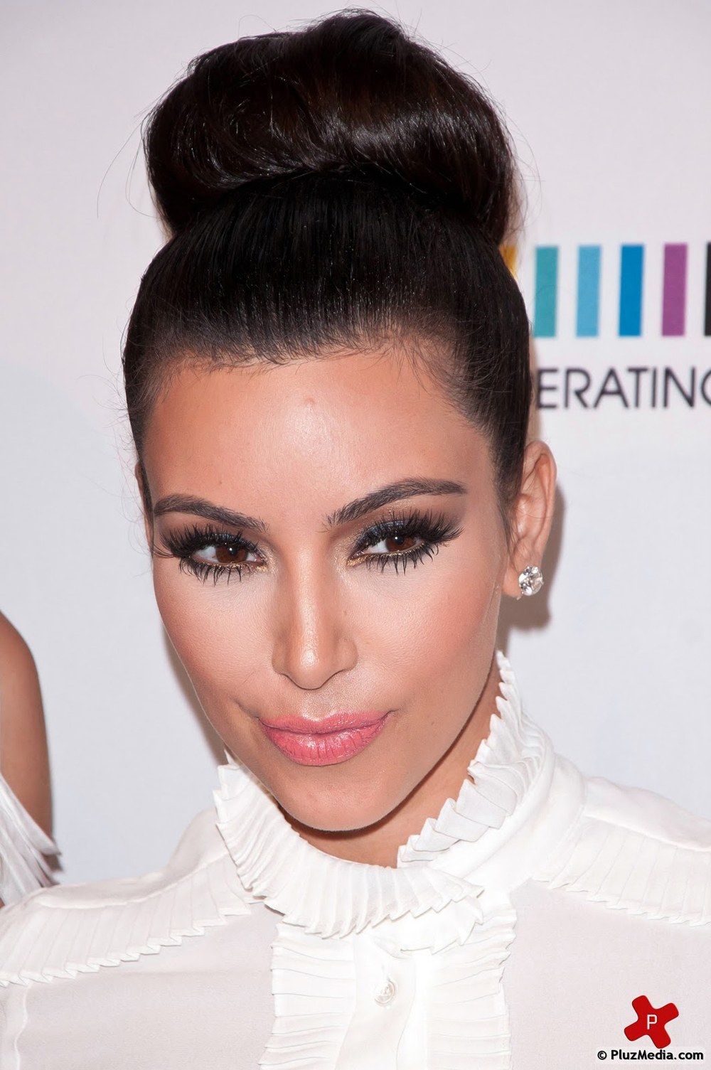 Kim Kardashian Updo Hairstyles Fresh Look Celebrity