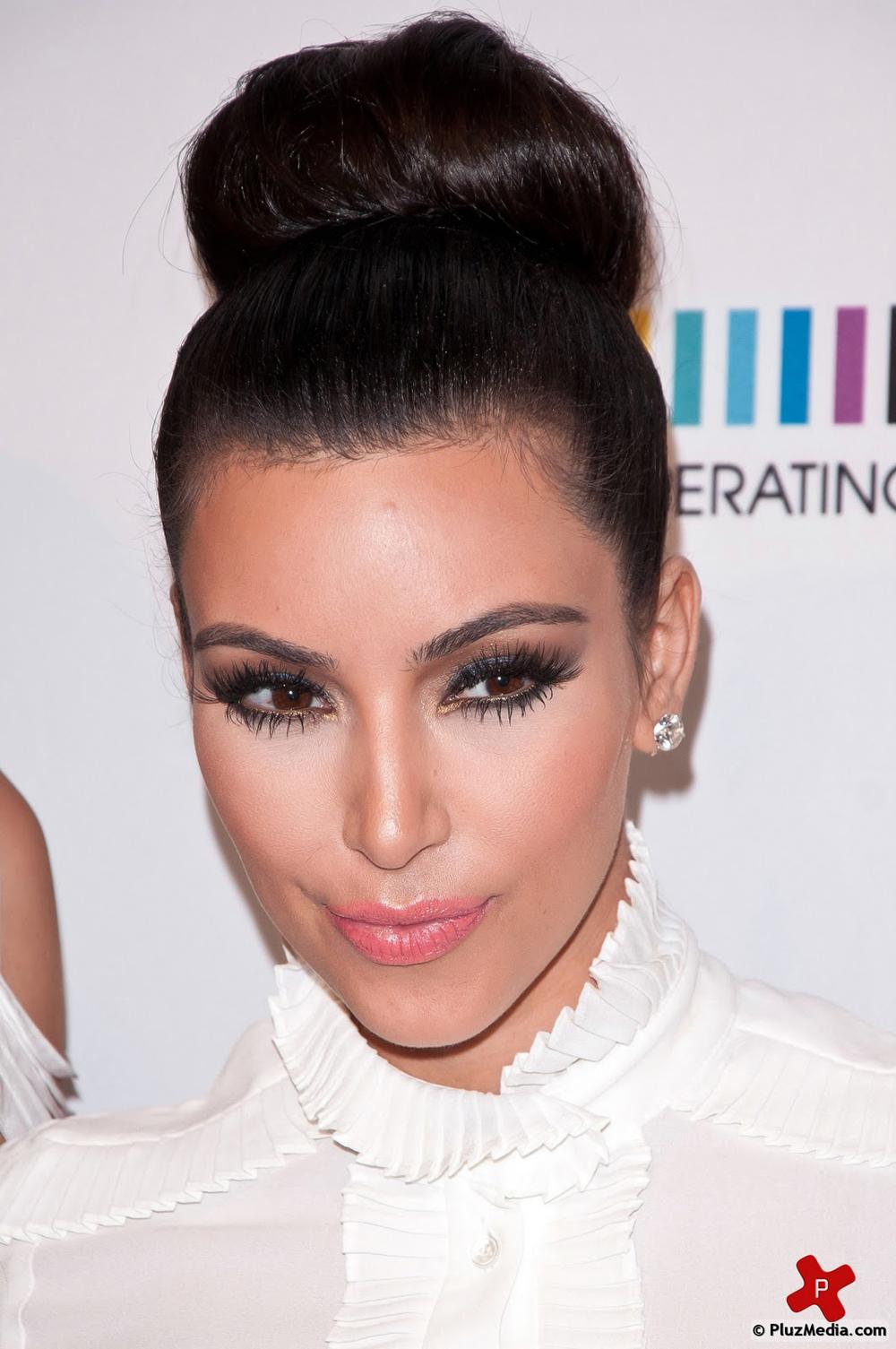 Kim Kardashian Updo Hairstyles | Fresh Look Celebrity Hairstyles
