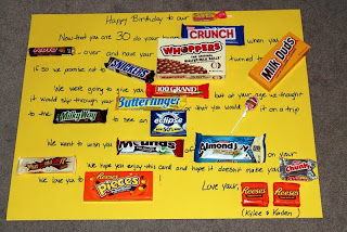 candy bar message for 40th birthday | just b.CAUSE