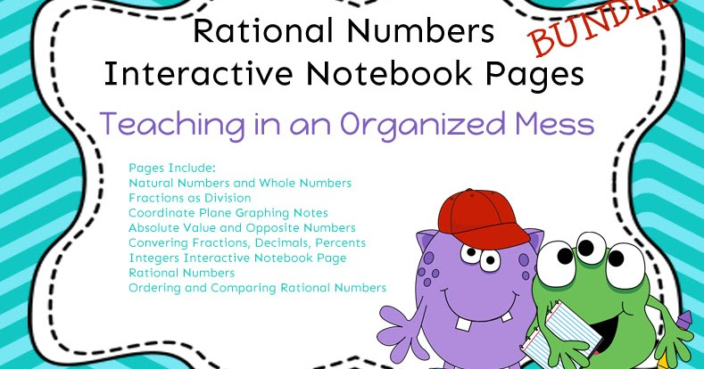 Teaching In An Organized Mess Interactive Notebook Pages Rational
