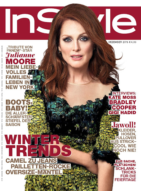 Actress, @ Julianne Moore - InStyle Germany, December 2015