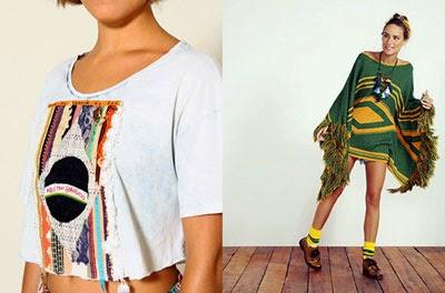 coleção roupa farm Copa blusa e poncho de tricot